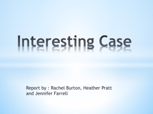Interesting Case March 2015